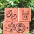 Fun & Joy wooden stamp set - Coffee - set of 3 rubber stamps