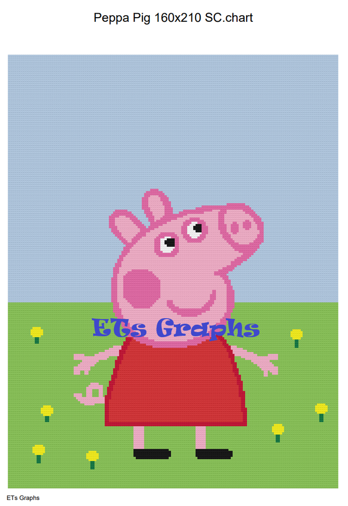 Peppa Pig SC 160x210 includes Graphs with Written Color Charts