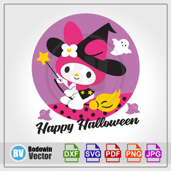 My Melody Halloween SVG / Instant Download / Digital Clipart / Cutting Files /