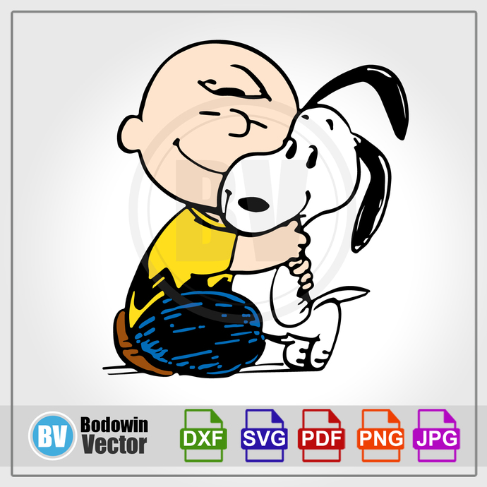 Charlie Brown & Snoopy SVG / Instant Download / Digital Clipart / Cutting Files