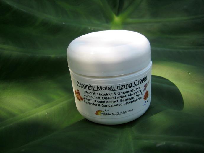 Sandalwood and Lavender Facial Moisturizing Cream, Serenity Cream, Gentle,