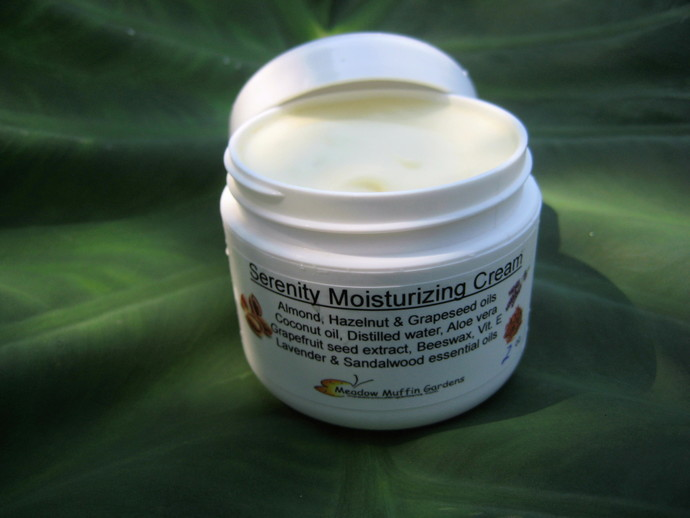 Sandalwood and Lavender Facial Moisturizing Cream, Serenity Cream, Gentle,
