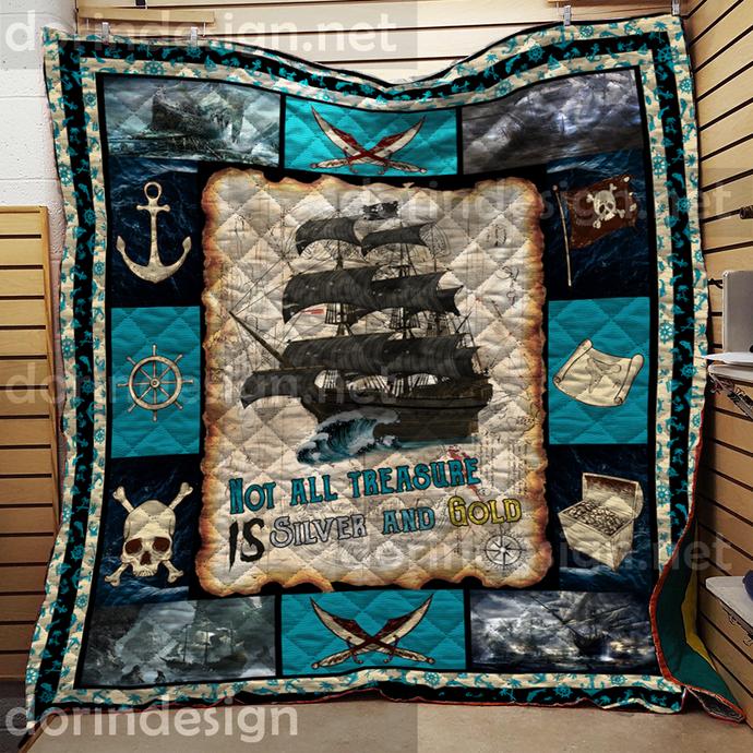 Ocean Ship Quilt Halloween Christmas Quilt blanket Gifts Daughter