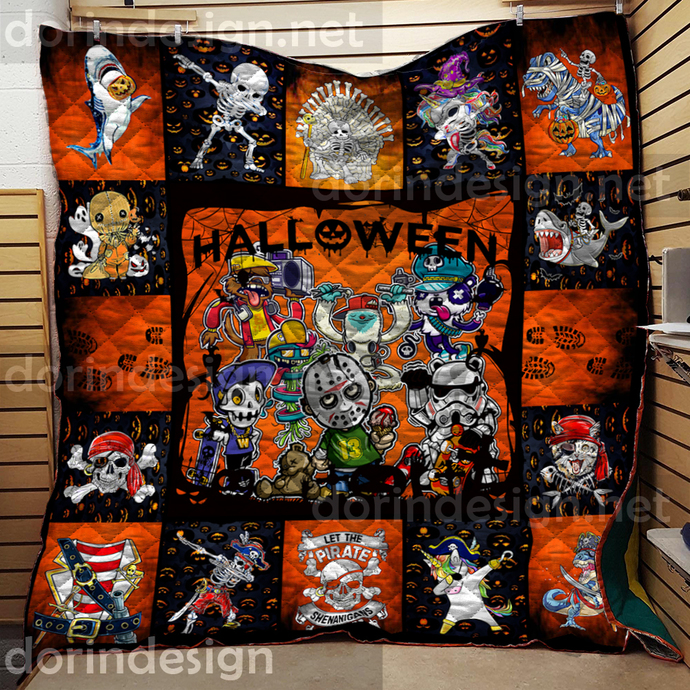 Halloween Squad Creepys Quilts, Handmade Quilt for Sale, Throw Blanket, Baby