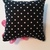 Pink Flower Pin Cushion on Black & White Polka-dots