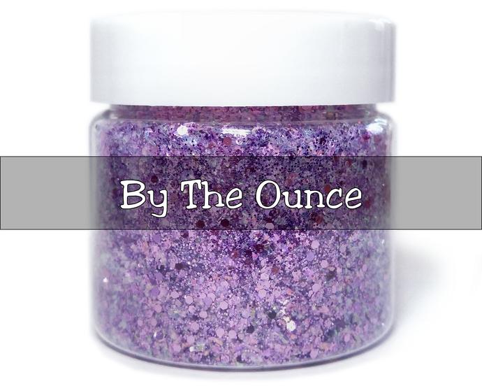 By The Ounce - Crème De Violette - Violet Mylar Flake and Metallic Purple Loose