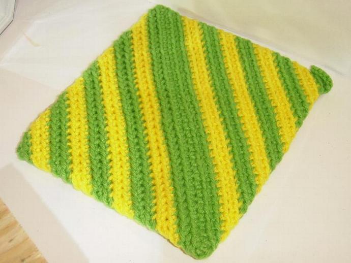 Lemon Lime Potholder- Knitted