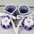 Crocheted Lavender Violet White Baby Booties Sandals - 3-6 mos.