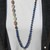 Long Beaded Necklace with Pendant Lapis Jasper Boho Glam by knottedup