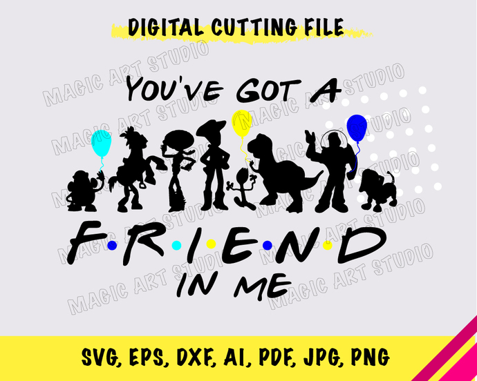 Toy Story Friends INSTANT DOWNLOAD (SVG, eps, dxf, ai, pdf, jpg, png, cutting