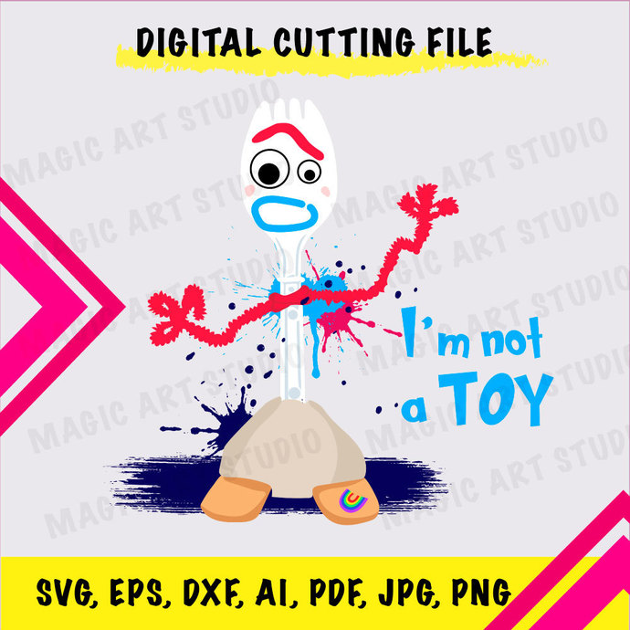 Toy Story NOT A TOY INSTANT DOWNLOAD (SVG, eps, dxf, ai, pdf, jpg, png, cutting