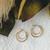 Vintage 10K Gold Double Hoop Leverback Earrings