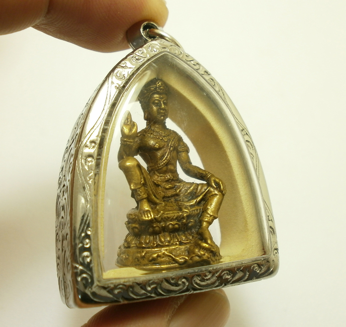 Jatukam Rama Thep Big Pendant amulet the king of south sea Blessing magic