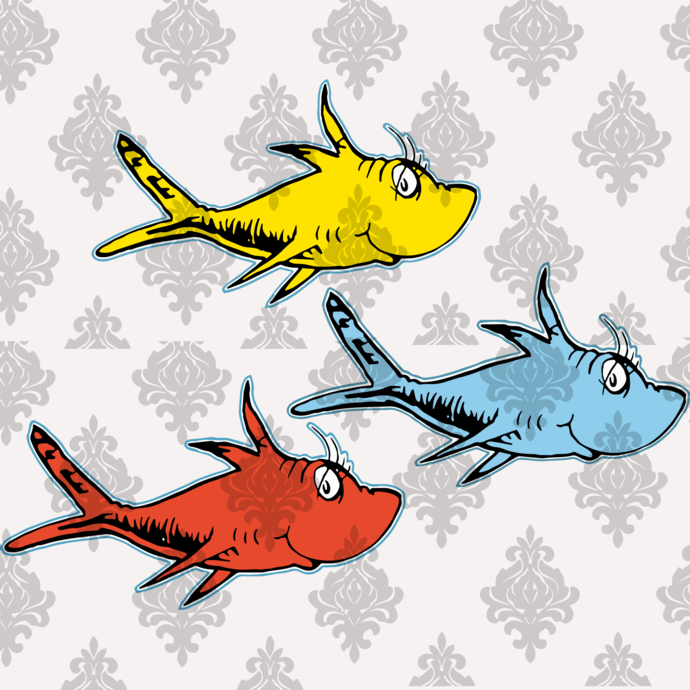 fish svg, fishing svg, fishing,fishing girl,Thing 1 thing 2, Cat in the hat,
