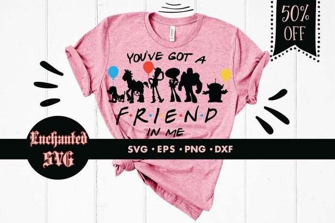 You've got a friend in me svg, Buzz lightyear svg, Toy Story svg, Woody svg,