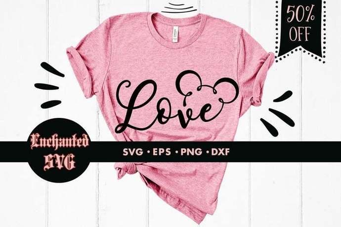 Love svg, Mickey love svg, Mickey mouse svg, Funny svg, Disney svg, Disneyland