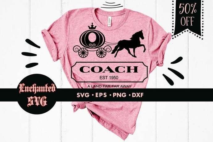 Cinderella coach svg, Horse svg, Cinderella svg, A land far far away svg,