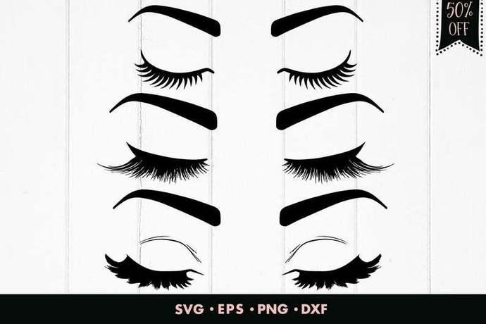 Eyelash svg, Eyelashes svg, Eyes svg, Make up svg, Beauty svg, Bridal svg,