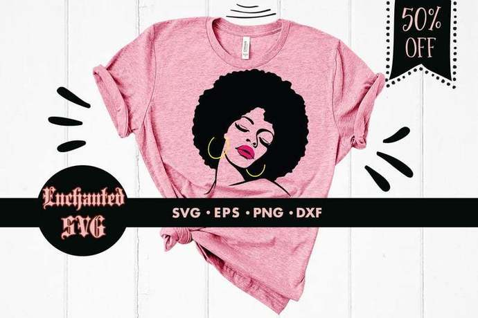 Afro woman svg, African american woman svg, Afro svg, Afro girl svg, Strong