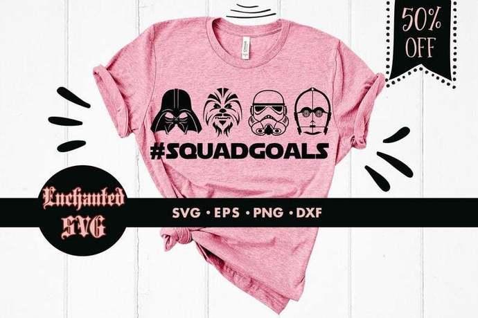 Star Wars squadgoals svg, Star Wars svg, Squadgoals svg, C3PO svg, Darth Vader