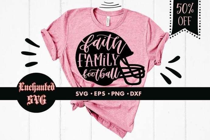 Faith family football svg, Football svg, Football helmet svg, Baller svg, Mom