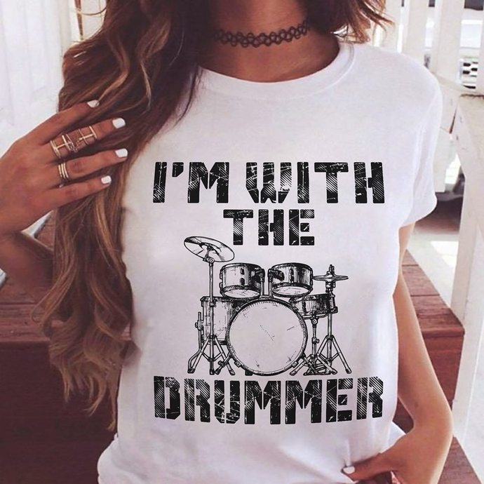 I'm With The Drummer Shirt, Love Music Shirt, Rock Shirt