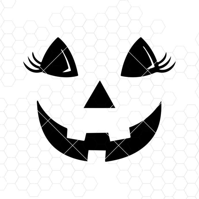Jack o lantern Pumpkin face SVG, Halloween svg Silhouette Cut Files, Cricut Cut