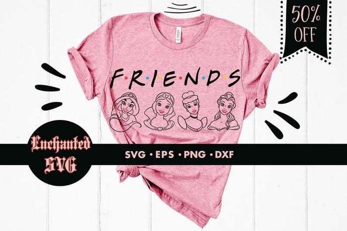 Princesses svg, Disney svg, Belle svg, Jasmine svg, Cinderella svg, Snow white