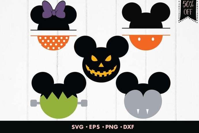Disney Halloween svg, Mickey mouse svg, Dracula svg, Minnie svg, Pumpkin svg,
