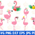 Flamingo lashes svg - flamingo svg - bird svg - animal svg - kids svg - flamingo