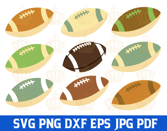 Football SVG files, Football laces SVG, Football stitches SVG, Vector files for