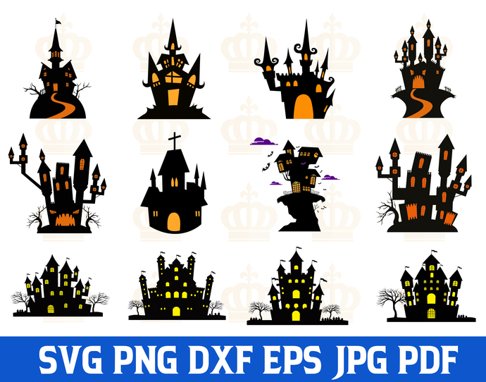 Halloween SVG,Halloween Castle svg,Halloween Ghost svg,Halloween