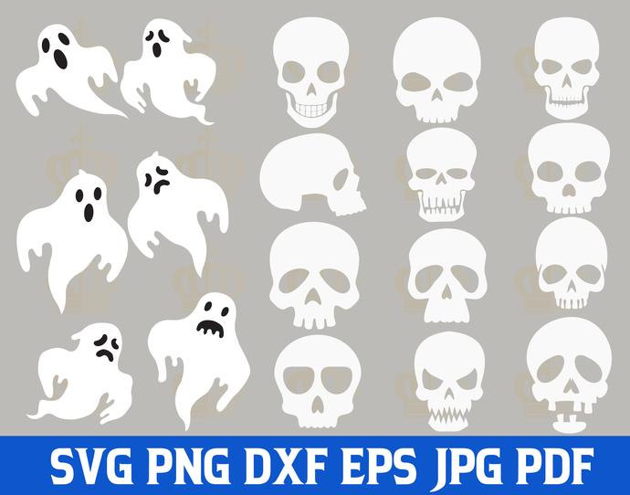 Halloween SVG,Halloween Skull svg,Halloween Ghost svg,Halloween Vector,Halloween