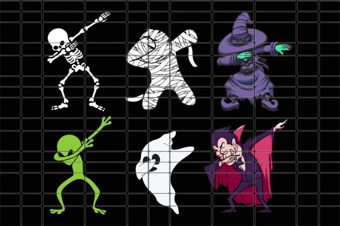 Dabbing halloween characters bundle