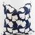Gingko Print pillow cover. Blue Pillow cover. Gingko print. Leaves prints  sham