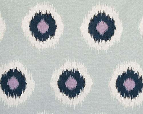 Light Blue  grey Fabric per yard. Ikat domino Drew Berries. Fabric per yard.