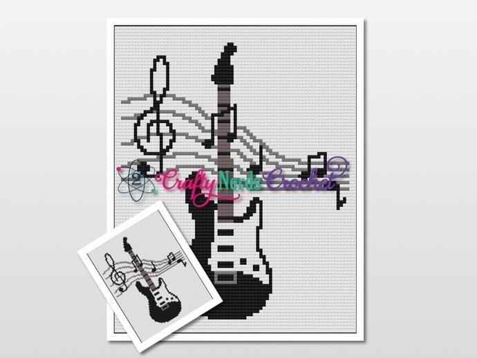 Guitar Music Pattern Graph With Mini  C2C Written