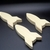 Pkg of 3 Handcrafted Wood Toy Rockets 343A-U-3 unfinished or finished