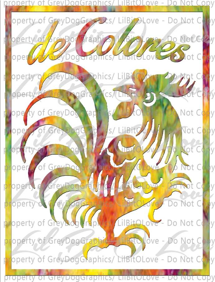 De Colores Cursillo Vinyl Decal Sticker Cursillista Rooster Christian