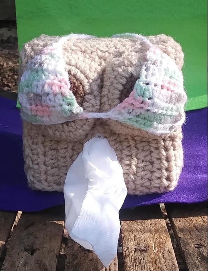 Boober Tissue Box Cover (Breast)