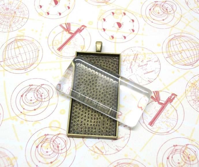Rectangla domino glass insert, DOMINO GLASS ONLY, glass tile, 25 rectangle