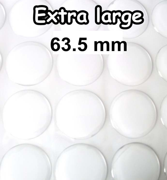 2 .5 inch Extra large 63.5 mm epoxy stickers, 10 pcs dome lens sticker, epoxy