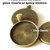 60 antiqued brass 1 inch cabochon setting, pendant trays, bronze setting,