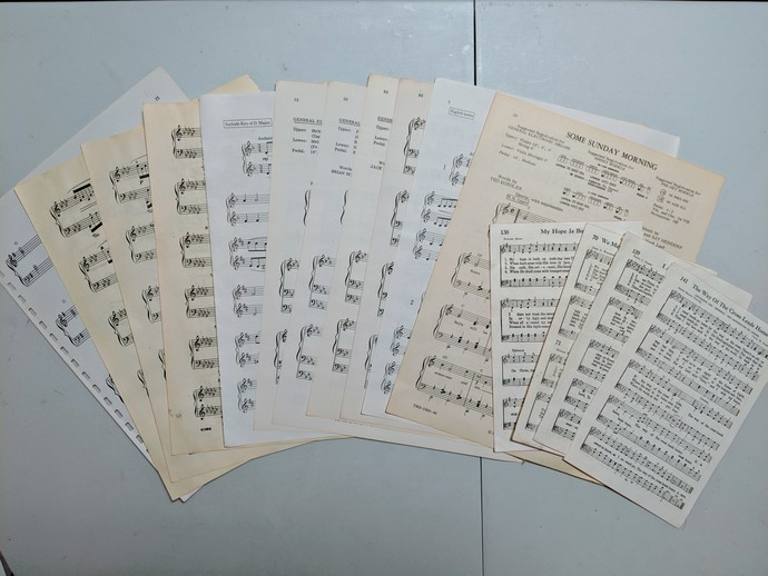 Vintage Music Sheet book pages