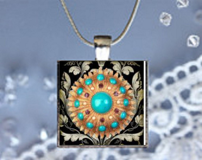 Pendant Necklace Gem Stones