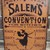 Primitive witch sign Salem's convention for witches wood Wiccan Halloween
