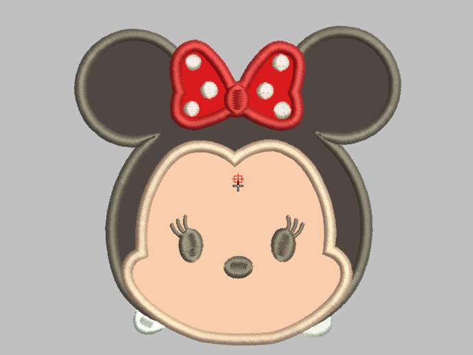 Tsum Tsum Embroidery Design Applique - Minnie Mouse