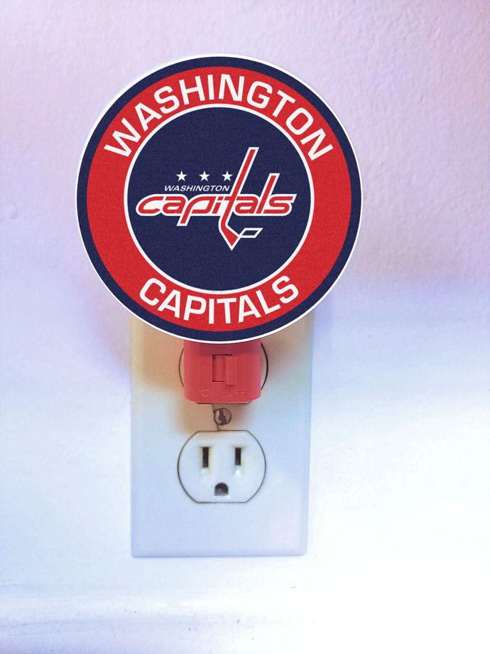 Washington Capitals Night Light - plug in light - lamp, LED, plugin, hockey