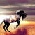 Horse On The Beach Cross Stitch Pattern - Instant Digital Downloadable Pattern