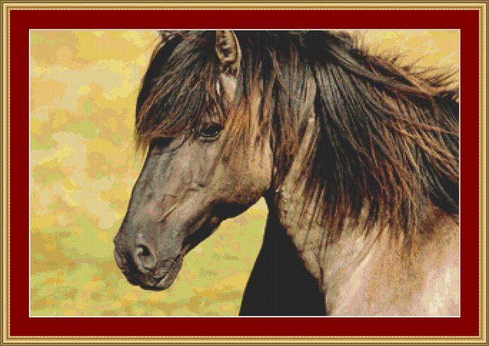Horse Cross Stitch Pattern - Instant Digital Downloadable Pattern